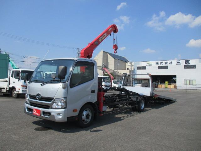 日野 デュトロ  2.6トン 積載車 3段クレーン ラジコン付き