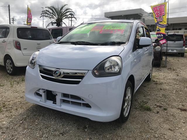 沖縄の中古車 ダイハツ ミライース 車両価格 44万円 リ済込 平成24年 3.1万km ライトブルー