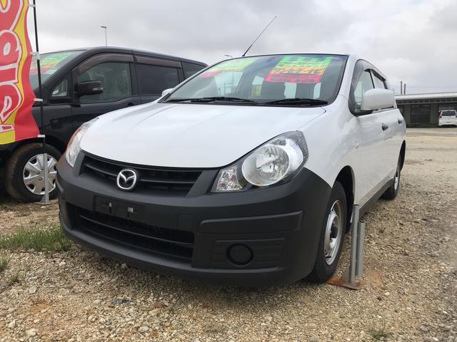 沖縄の中古車 マツダ ファミリアバン 車両価格 49万円 リ済込 平成26年 5.9万km ホワイト