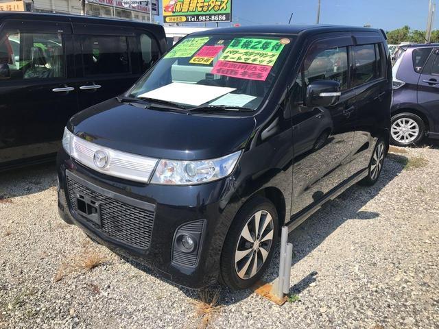 沖縄の中古車 マツダ AZワゴン 車両価格 44万円 リ済込 2012(平成24)年 6.2万km ブラック