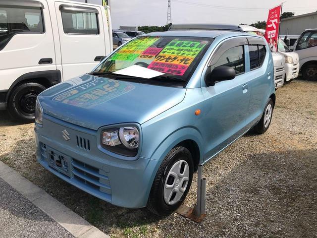 沖縄の中古車 スズキ アルト 車両価格 43万円 リ済込 2015(平成27)年 7.5万km ライトブルー