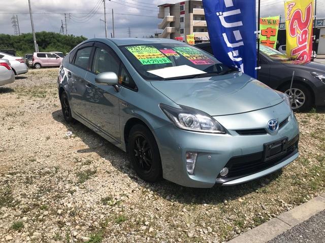 沖縄の中古車 トヨタ プリウス 車両価格 79万円 リ済込 2012(平成24)年 3.1万km Lグリーン