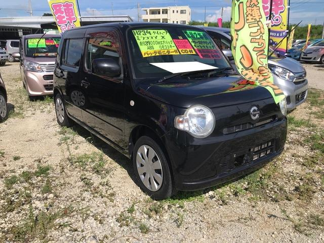 沖縄の中古車 ダイハツ ミラココア 車両価格 50万円 リ済込 2011(平成23)年 3.8万km ブラック