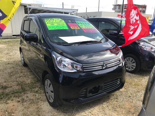 沖縄の中古車 三菱 eKワゴン 車両価格 54万円 リ済込 2015(平成27)年 5.6万km ブラック
