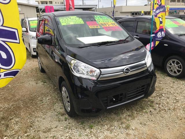 沖縄の中古車 日産 デイズ 車両価格 64万円 リ済込 2017(平成29)年 1.1万km ブラック