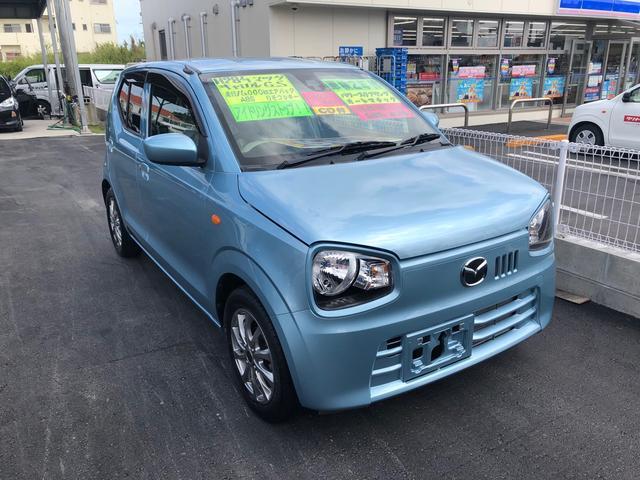 沖縄の中古車 マツダ キャロル 車両価格 50万円 リ済込 2016(平成28)年 1.4万km ライトブルー