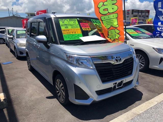 沖縄の中古車 トヨタ ルーミー 車両価格 119万円 リ済込 2019年 2.8万km シルバー