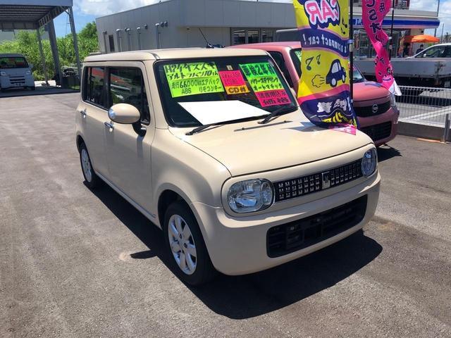 沖縄の中古車 スズキ アルトラパン 車両価格 53万円 リ済込 2012(平成24)年 6.5万km ライトイエロー