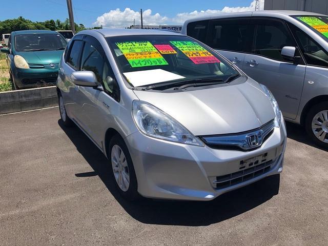沖縄の中古車 ホンダ フィットハイブリッド 車両価格 49万円 リ済込 2013(平成25)年 5.5万km シルバー