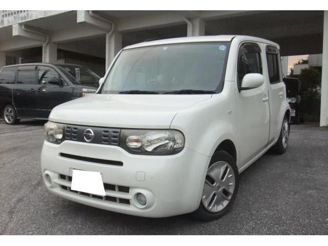 沖縄の中古車 日産 キューブ 車両価格 29万円 リ済別 2009(平成21)年 14.2万km ホワイトパール