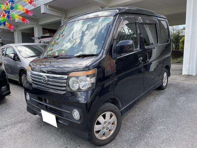 沖縄の中古車 ダイハツ アトレーワゴン 車両価格 49万円 リ済別 2011(平成23)年 11.2万km ブラックM
