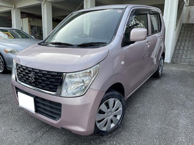 沖縄の中古車 スズキ ワゴンR 車両価格 39万円 リ済別 2014(平成26)年 10.7万km ピンク