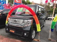 沖縄の中古車 ホンダ N BOXカスタム 車両価格 103万円 リ済込 平成25年 6.0万K ブラックM