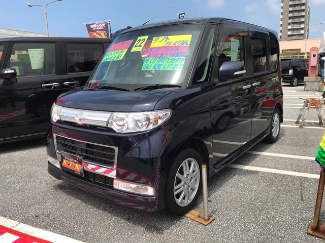 沖縄の中古車 ダイハツ タント 車両価格 43万円 リ済込 2010(平成22)年 9.0万km 紺