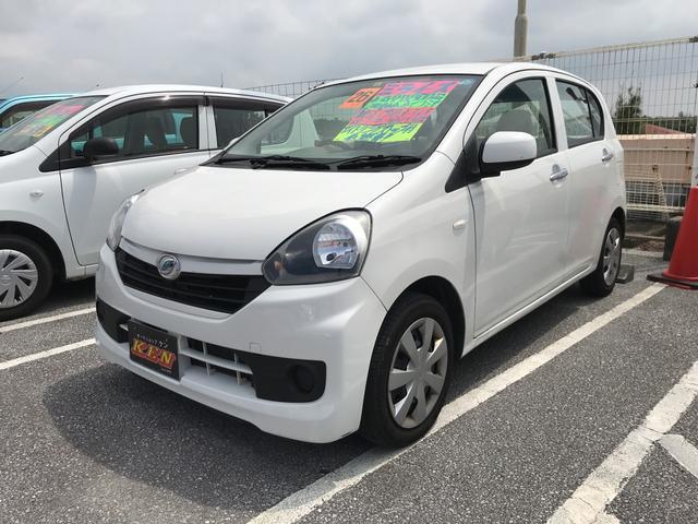沖縄の中古車 ダイハツ ミライース 車両価格 33万円 リ済込 2014(平成26)年 7.8万km ホワイト