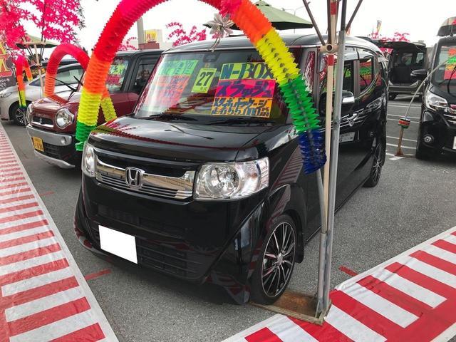 沖縄の中古車 ホンダ N-BOXスラッシュ 車両価格 122万円 リ済込 2015(平成27)年 5.5万km ブラック
