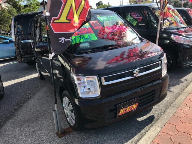 沖縄の中古車 スズキ ワゴンR 車両価格 96万円 リ済込 2018(平成30)年 1.3万km ブラウン