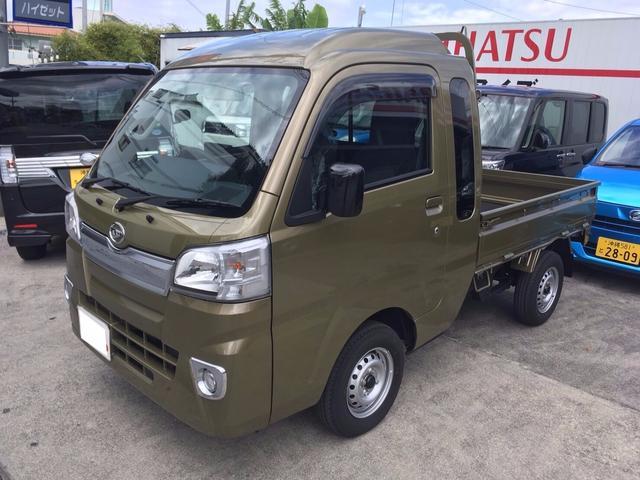 沖縄の中古車 ダイハツ ハイゼットトラック 車両価格 ASK リ済込 新車  オフビートカーキメタリック