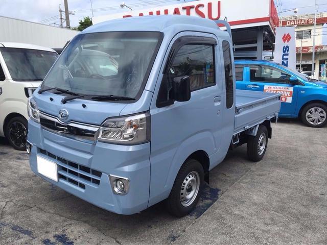 沖縄の中古車 ダイハツ ハイゼットトラック 車両価格 ASK リ済込 新車  ライトブルーM