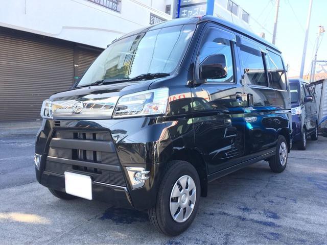 沖縄の中古車 ダイハツ ハイゼットカーゴ 車両価格 ASK リ済込 新車  ブラックM