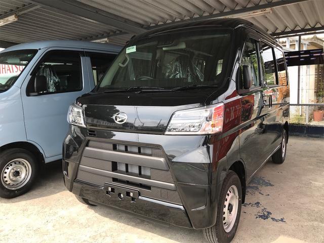 沖縄の中古車 ダイハツ ハイゼットカーゴ 車両価格 ASK リ済込 2020(令和2)年 7km ブラックM