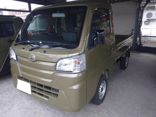 沖縄の中古車 ダイハツ ハイゼットトラック 車両価格 ASK リ済込 2020(令和2)年 6km OBカーキ