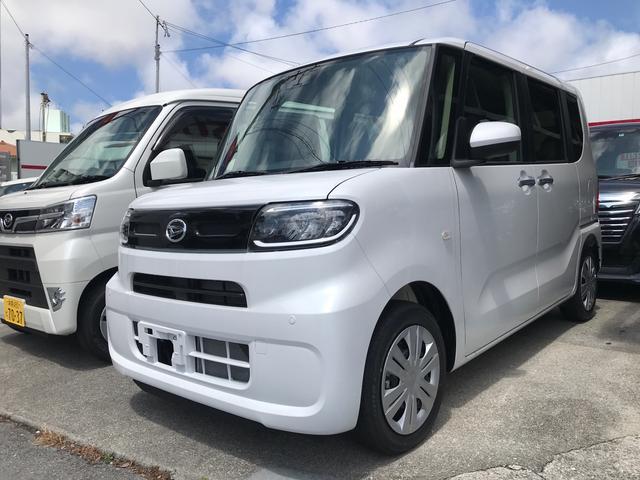 沖縄の中古車 ダイハツ タント 車両価格 ASK リ済込 2021(令和3)年 45km パールホワイト