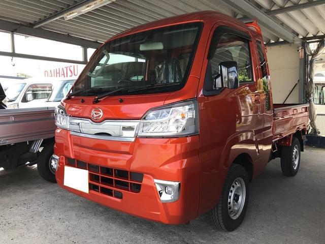 沖縄の中古車 ダイハツ ハイゼットトラック 車両価格 ASK リ済込 2021(令和3)年 8km オレンジM
