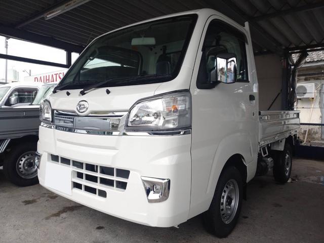 沖縄県沖縄市の中古車ならハイゼットトラック ローダンプ 5MT 4WD 鳥居ガードフレーム