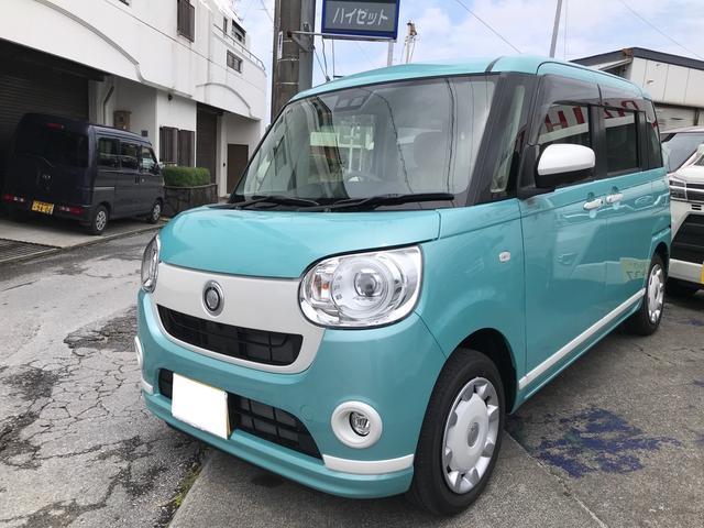 沖縄の中古車 ダイハツ ムーヴキャンバス 車両価格 ASK リ済込 2021(令和3)年 6km グリーンM