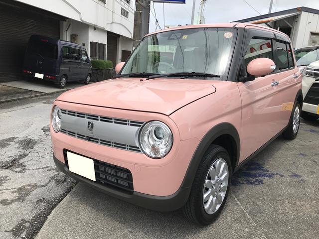 沖縄の中古車 スズキ アルトラパン 車両価格 ASK リ済込 2021(令和3)年 7km ピンクM
