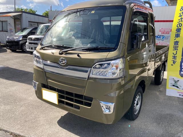 沖縄の中古車 ダイハツ ハイゼットトラック 車両価格 ASK リ済込 2021(令和3)年 9km グリーンM