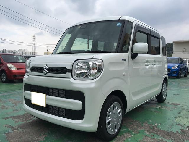 沖縄の中古車 スズキ スペーシア 車両価格 135.4万円 リ済込 新車  ホワイト