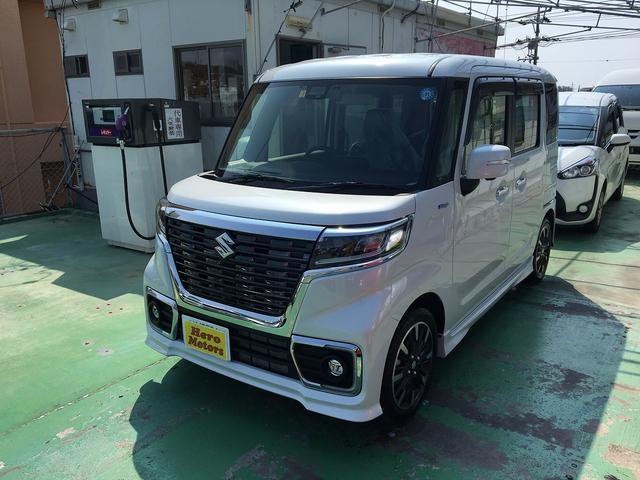 沖縄の中古車 スズキ スペーシアカスタム 車両価格 169万円 リ済込 新車  パールホワイト