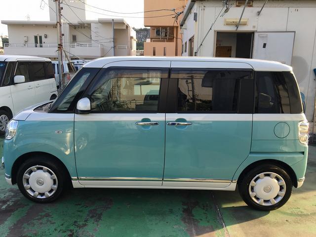 沖縄県の中古車ならムーヴキャンバス Xブラックアクセントリミテッド SAIII