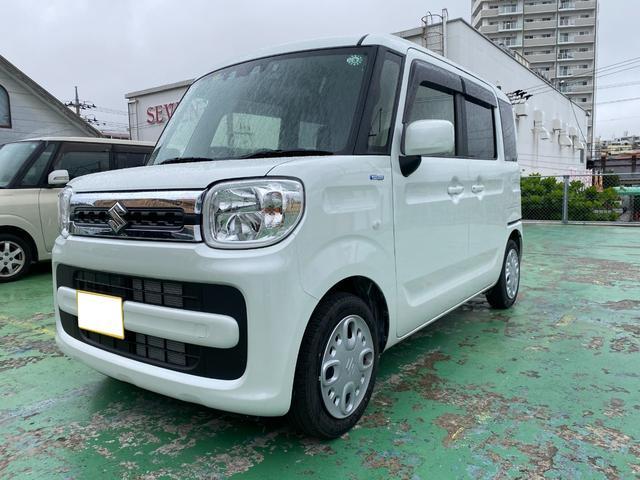 沖縄の中古車 スズキ スペーシア 車両価格 ASK リ済込 2021(令和3)年 228km パールホワイト
