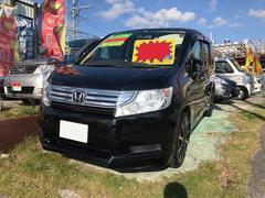 沖縄の中古車 ホンダ ステップワゴン 車両価格 75万円 リ済込 平成22年 12.0万K ブラック