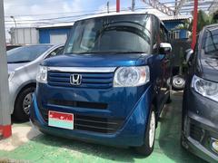 沖縄の中古車 ホンダ N BOX 車両価格 89万円 リ済込 平成26年 3.8万K ブルー