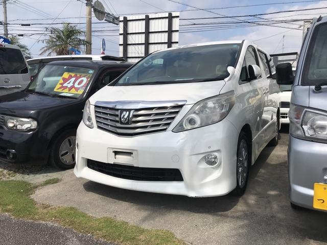 沖縄の中古車 トヨタ アルファード 車両価格 109万円 リ済込 平成22年 15.0万km パール