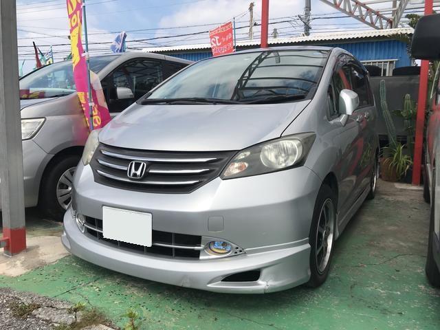 沖縄の中古車 ホンダ フリード 車両価格 33万円 リ済込 平成20年 15.0万km シルバー