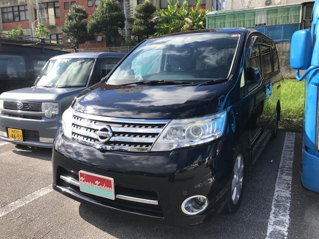沖縄の中古車 日産 セレナ 車両価格 39万円 リ済込 2009(平成21)年 15.9万km ブラック