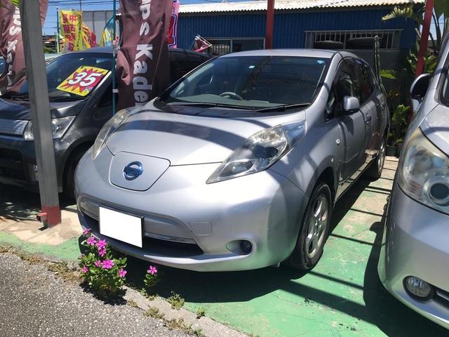 沖縄の中古車 日産 リーフ 車両価格 35万円 リ済込 2011(平成23)年 9.6万km シルバー