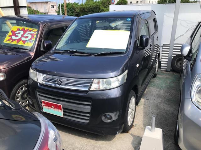 沖縄県中頭郡嘉手納町の中古車ならワゴンRスティングレー X プッシュスタート 純正アルミ ABS Wエアバック