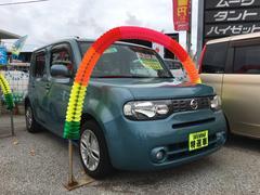 沖縄の中古車 日産 キューブ 車両価格 49万円 リ済込 平成22年 9.8万K ライトブルーM