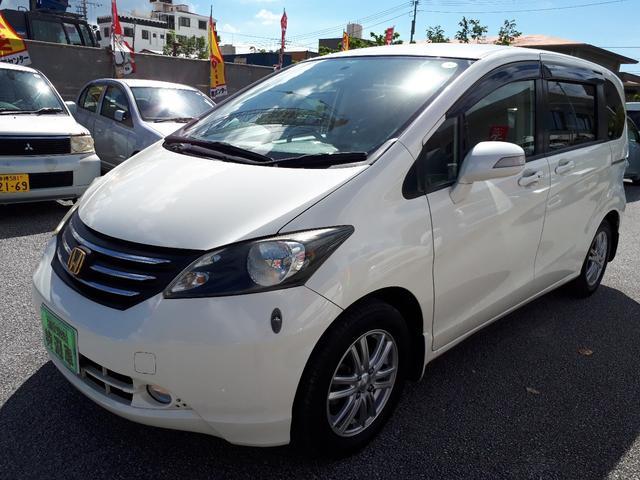 沖縄の中古車 ホンダ フリード 車両価格 69万円 リ済込 平成21年 10.3万km パールホワイト