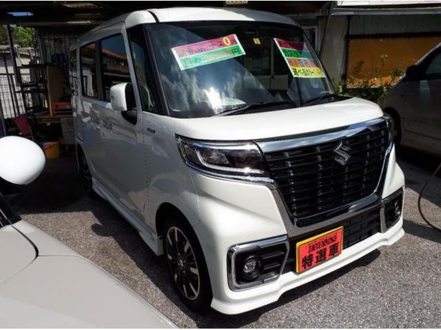 沖縄の中古車 スズキ スペーシアカスタム 車両価格 184万円 リ済込 新車  パールホワイト
