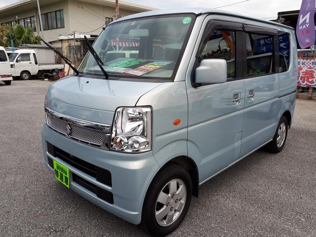 沖縄の中古車 スズキ エブリイワゴン 車両価格 55万円 リ済込 平成21年 9.7万km ライトブルー