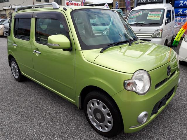 沖縄の中古車 ダイハツ ミラココア 車両価格 49万円 リ済込 2009(平成21)年 11.5万km LグリーンM