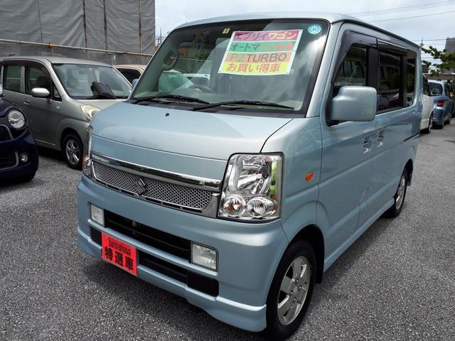 沖縄の中古車 スズキ エブリイワゴン 車両価格 59万円 リ済込 2008(平成20)年 10.7万km ライトブルーM