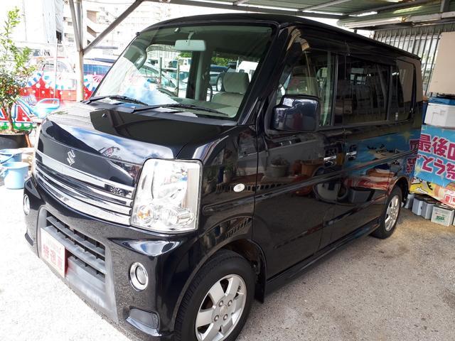 沖縄の中古車 スズキ エブリイワゴン 車両価格 69万円 リ済込 2010(平成22)年 9.9万km ブラック